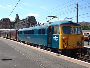 87002 at Ayr on the 'Electric Scot' railtour