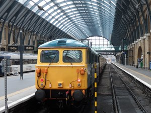 87002 at London King's Cross on a GBRf private charter